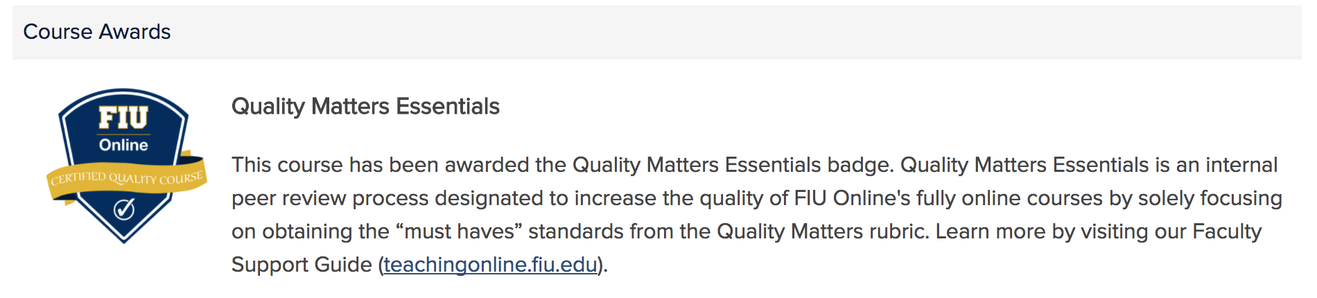 Quality matters essentials qme fiuonline certified quality course 1betcityfo Images