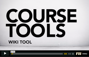 Course Tools. Wiki tool